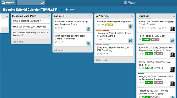 5 Reasons Why Trello Is An Excellent Blogging Editorial Calendar