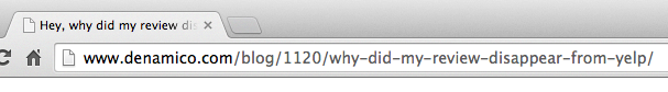 Title tags appear on browser tab
