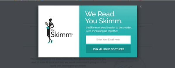 Call-to-Action Example Skimm