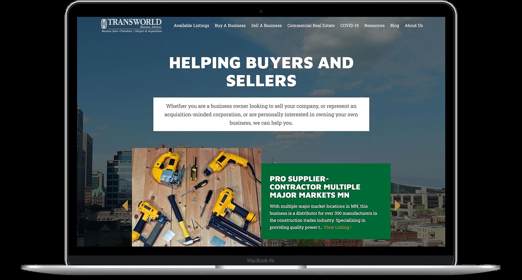 TWM Old Website Homepage