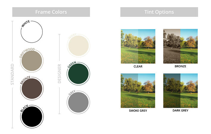 Sunspace Color & Tint Guide