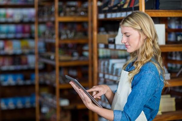 digital tablet in store