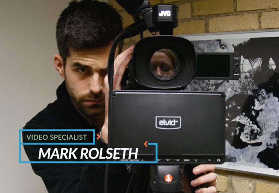 Mark Roselth behind the camera