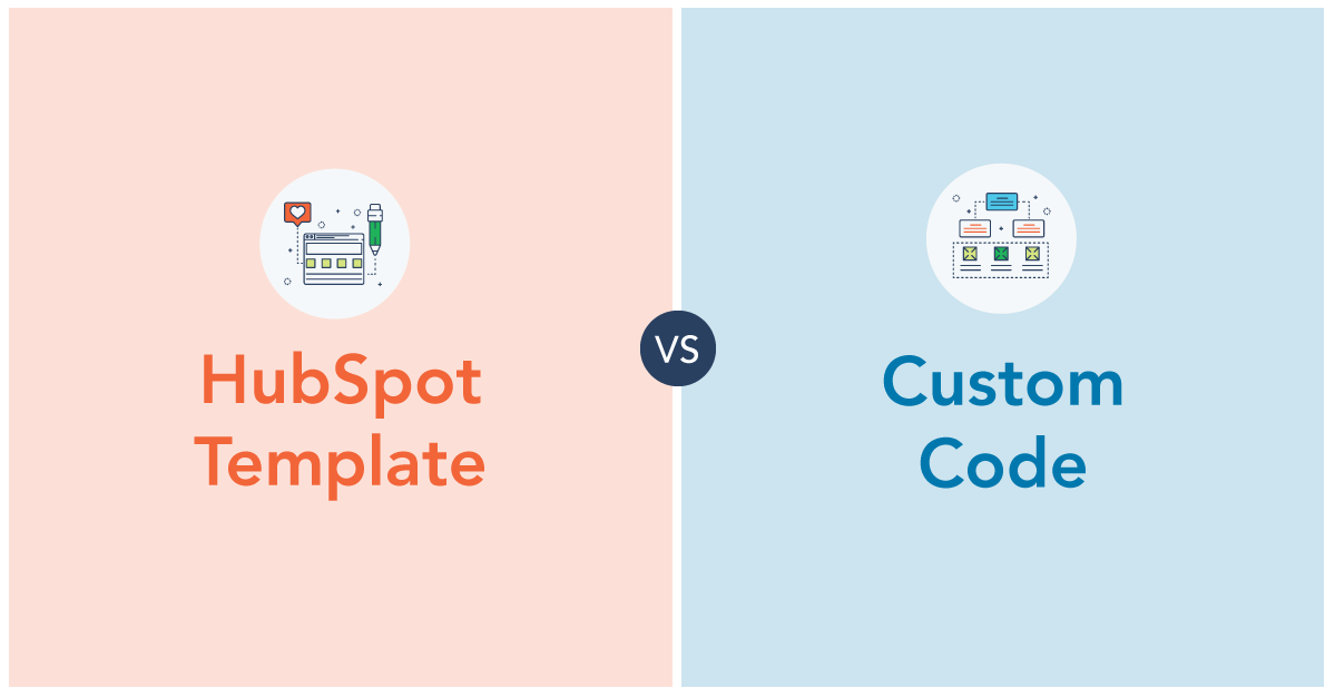 Choosing Between a HubSpot Template vs. Custom Code for Your Website [Infographic]
